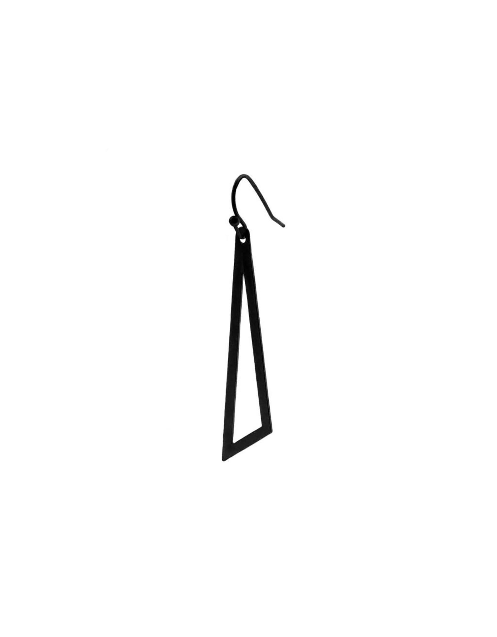 oorbEllen mix&match driehoek mat zwart haakje zwart