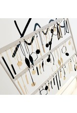 oorbEllen mix&match staafje kort mat zwart korte hanger goud