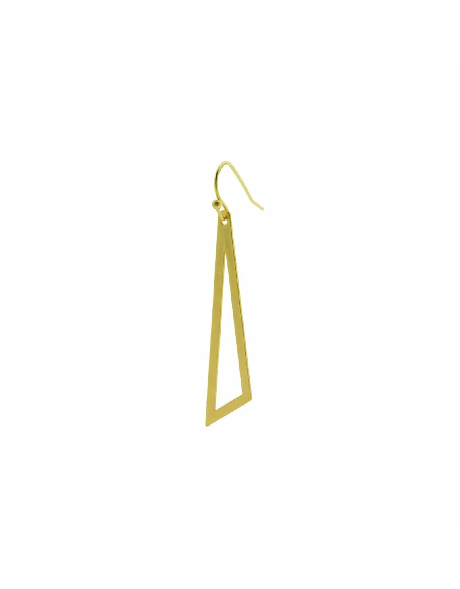 oorbEllen mix&match driehoek mat goud haakje goud
