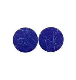 oorbEllen stekers plat 20mm marmer blauw