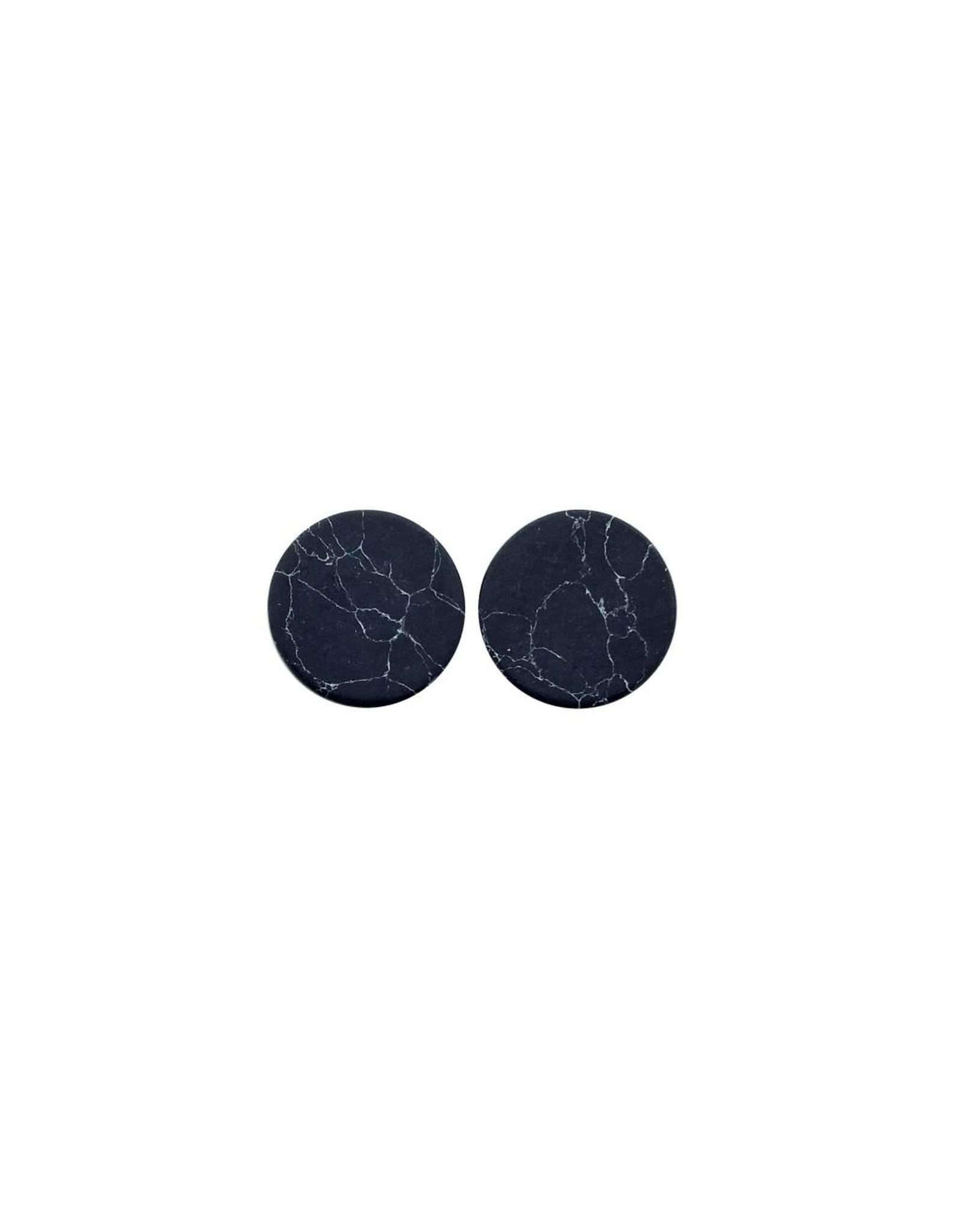 oorbEllen stekers plat 12mm marmer zwart