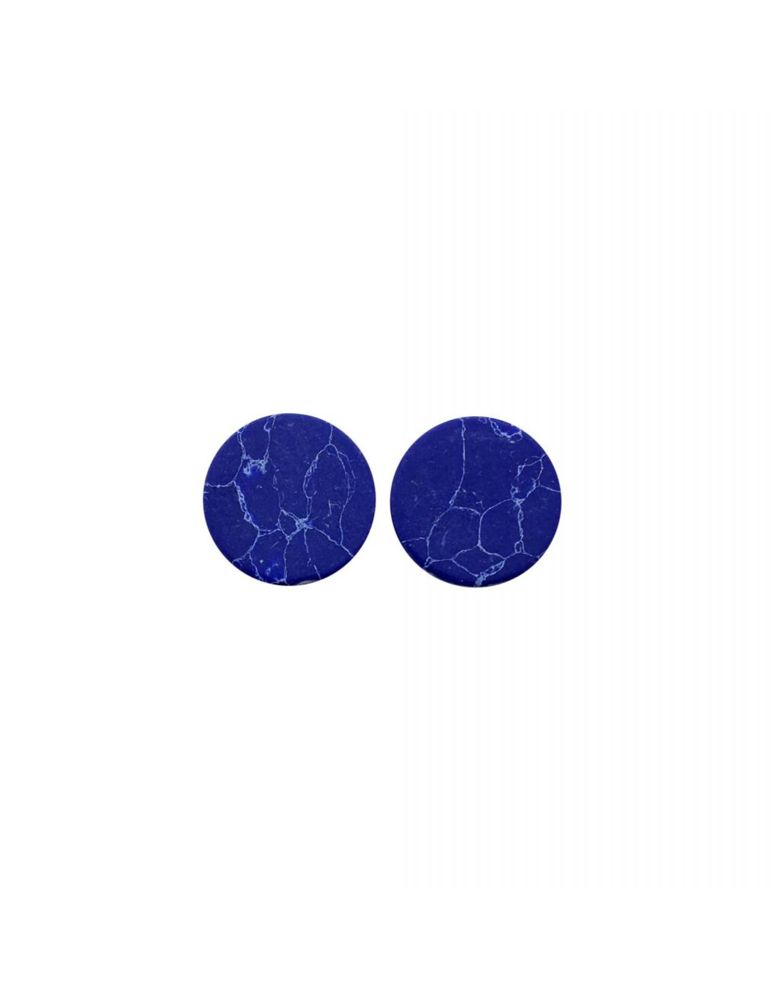 oorbEllen stekers plat 12mm marmer blauw