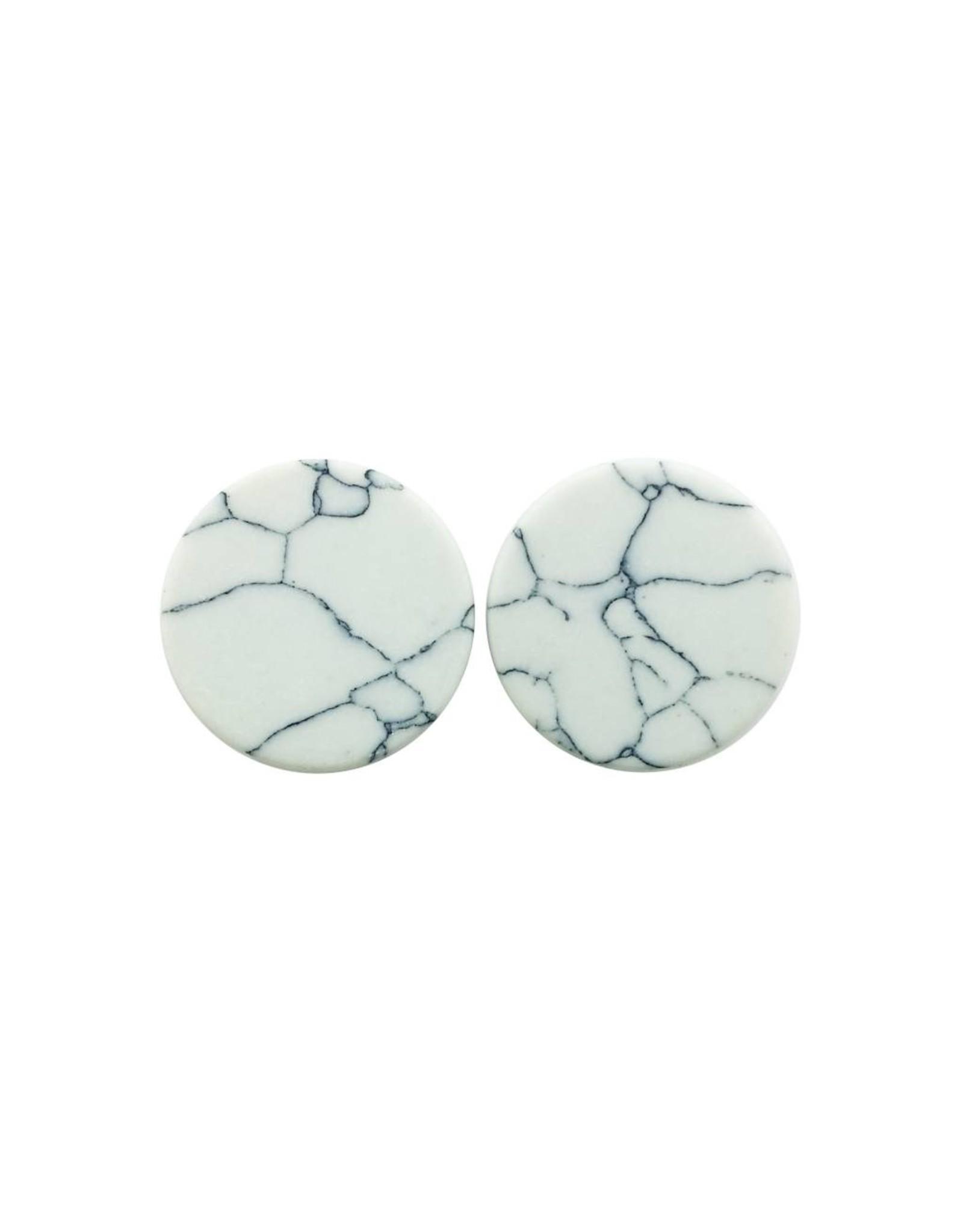 oorbEllen stekers plat 20mm marmer wit