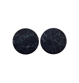 oorbEllen stekers plat 20mm marmer zwart