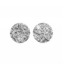 oorbEllen stekers plat 20mm zilver