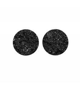 oorbEllen stekers plat 20mm zwart