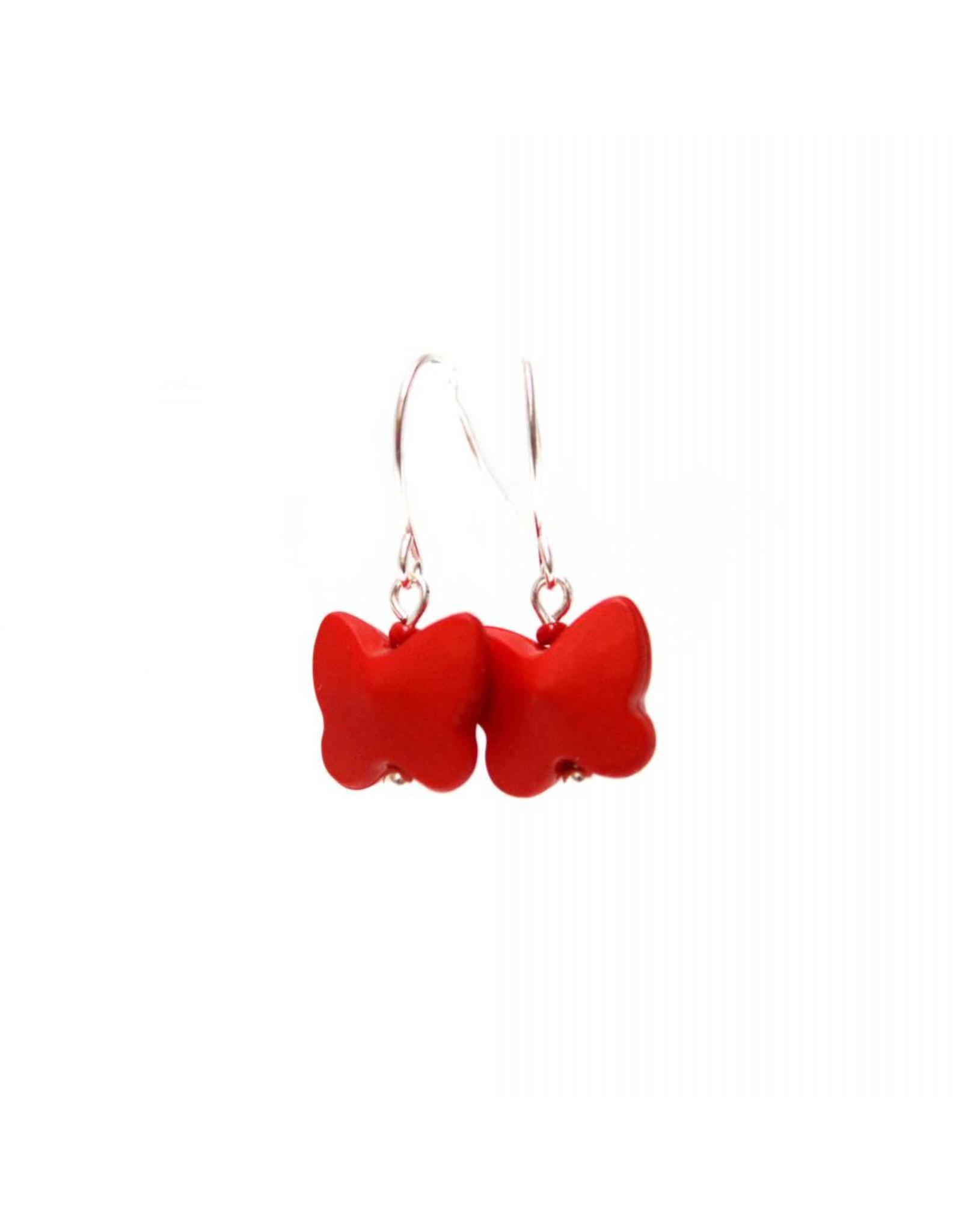 oorbEllen vlindertjes rood