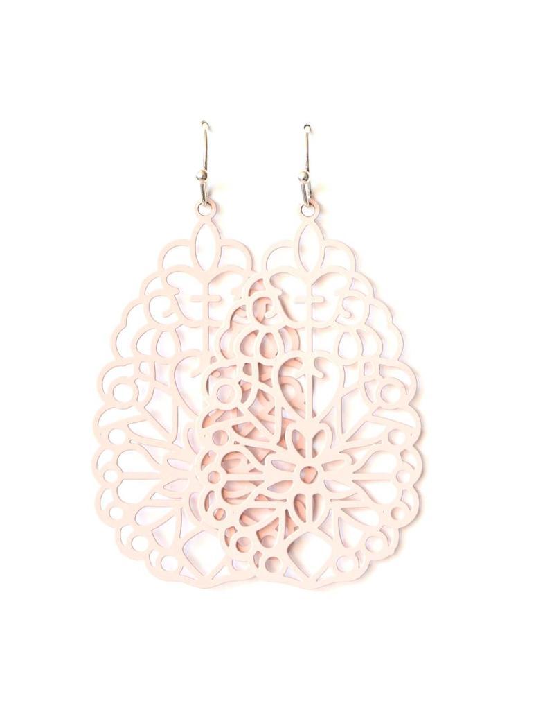 oorbEllen filigraan XL roze