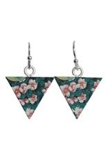oorbEllen hout hangertjes bloemen driehoek