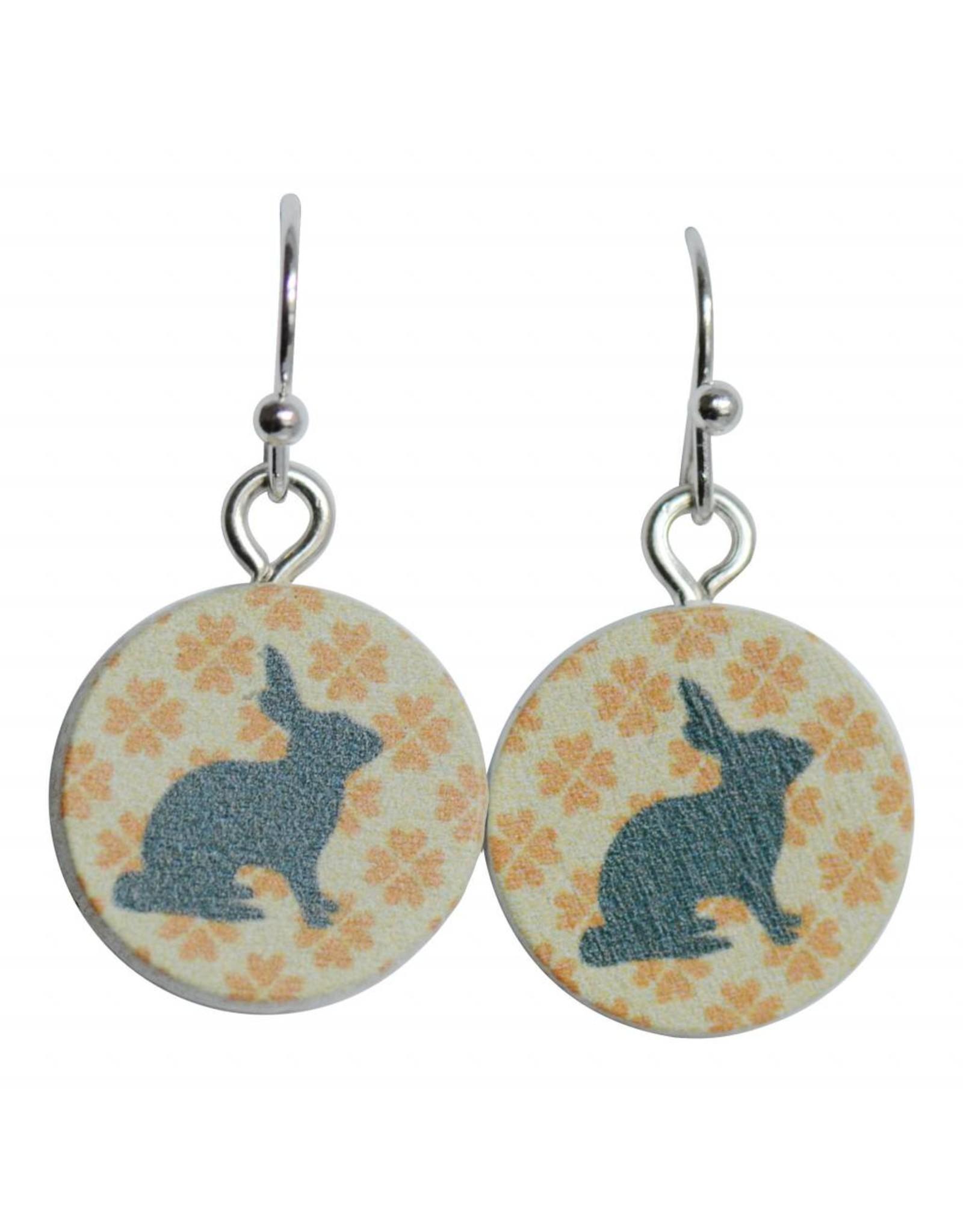 oorbEllen hout hangertjes konijn