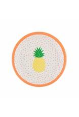 Papieren bordjes ananas