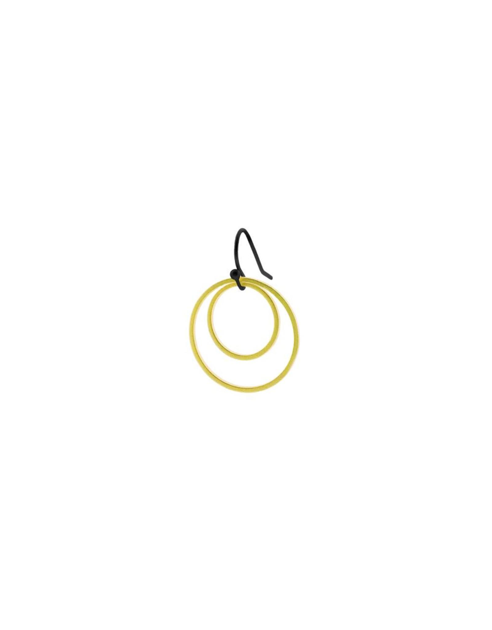 oorbEllen mix&match cirkels dubbel mat goud kort zwart