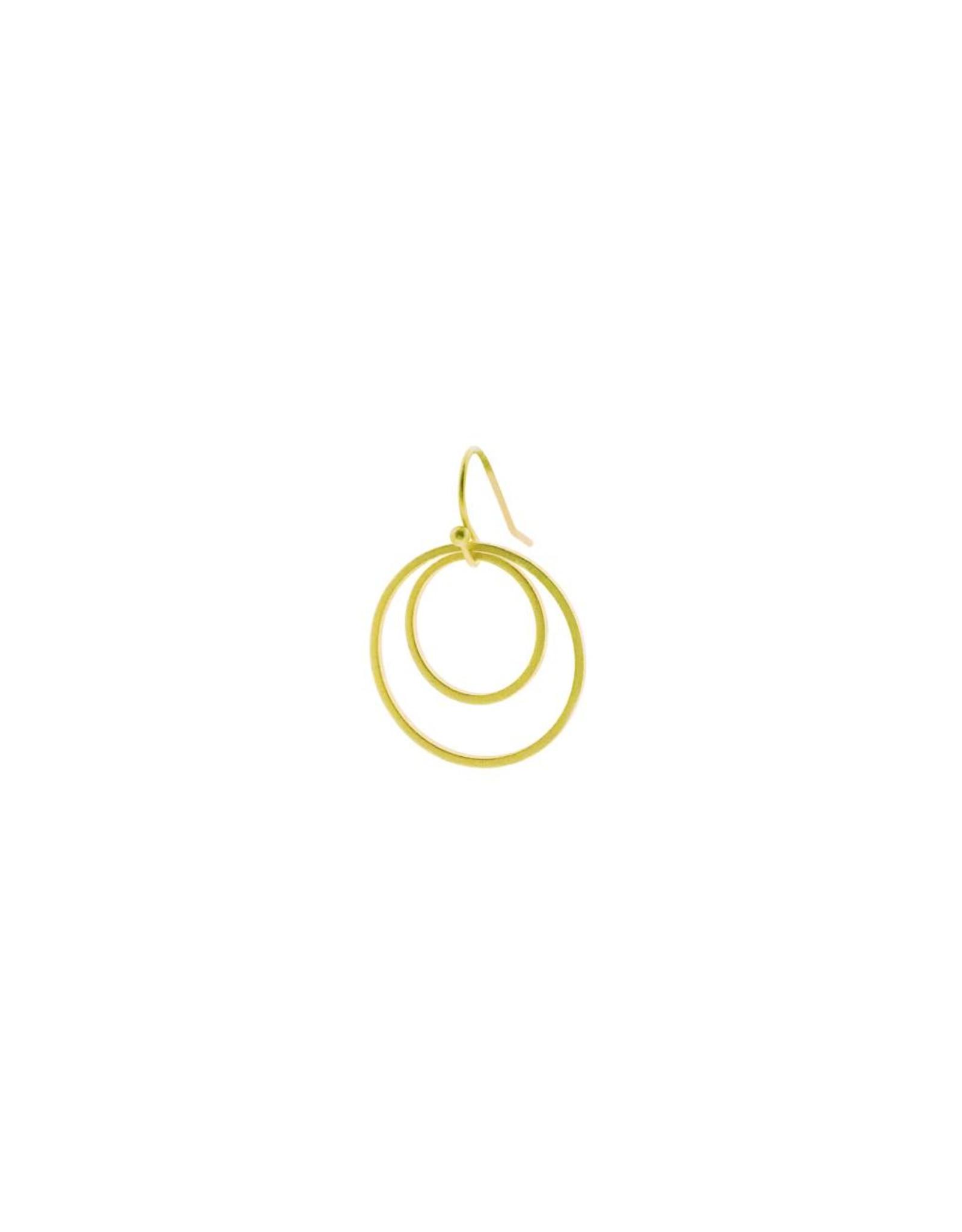 oorbEllen mix&match cirkels dubbel mat goud kort