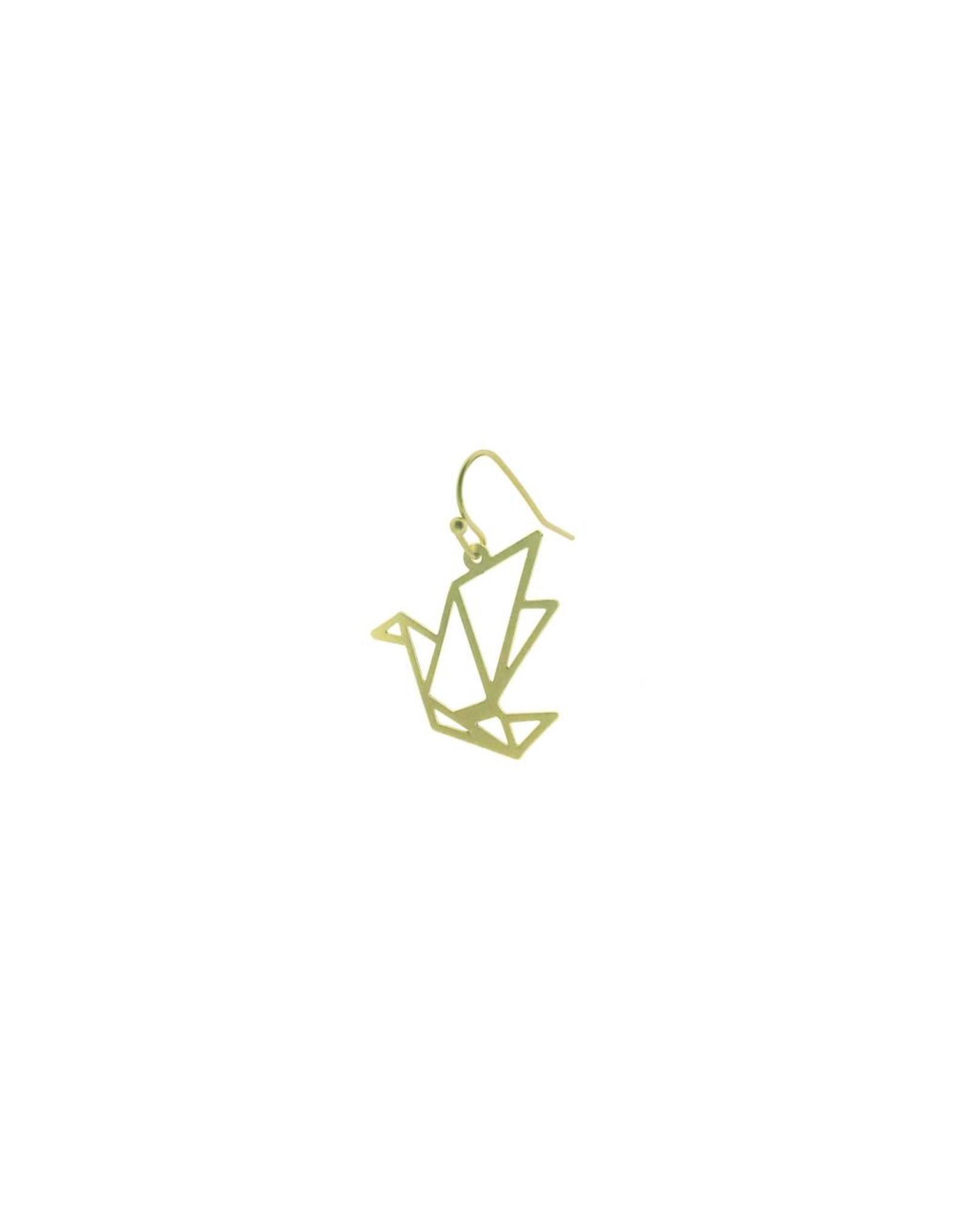 oorbEllen mix&match kraanvogel mat goud