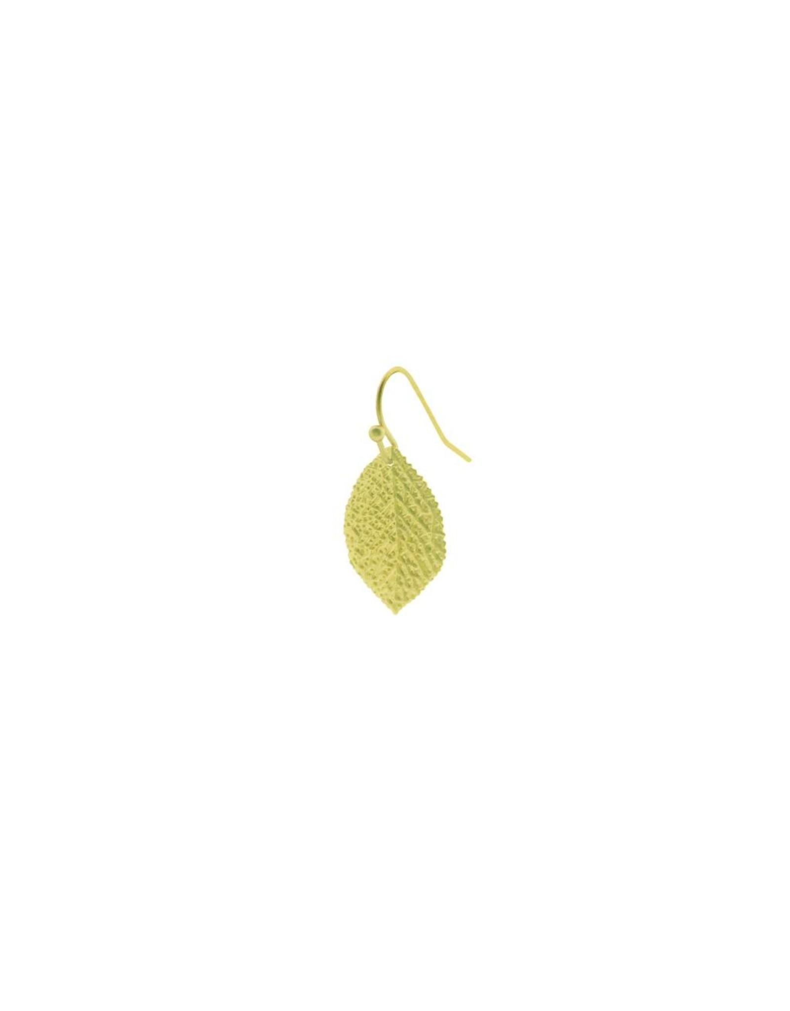 oorbEllen mix&match blaadje generfd mat goud kort goud