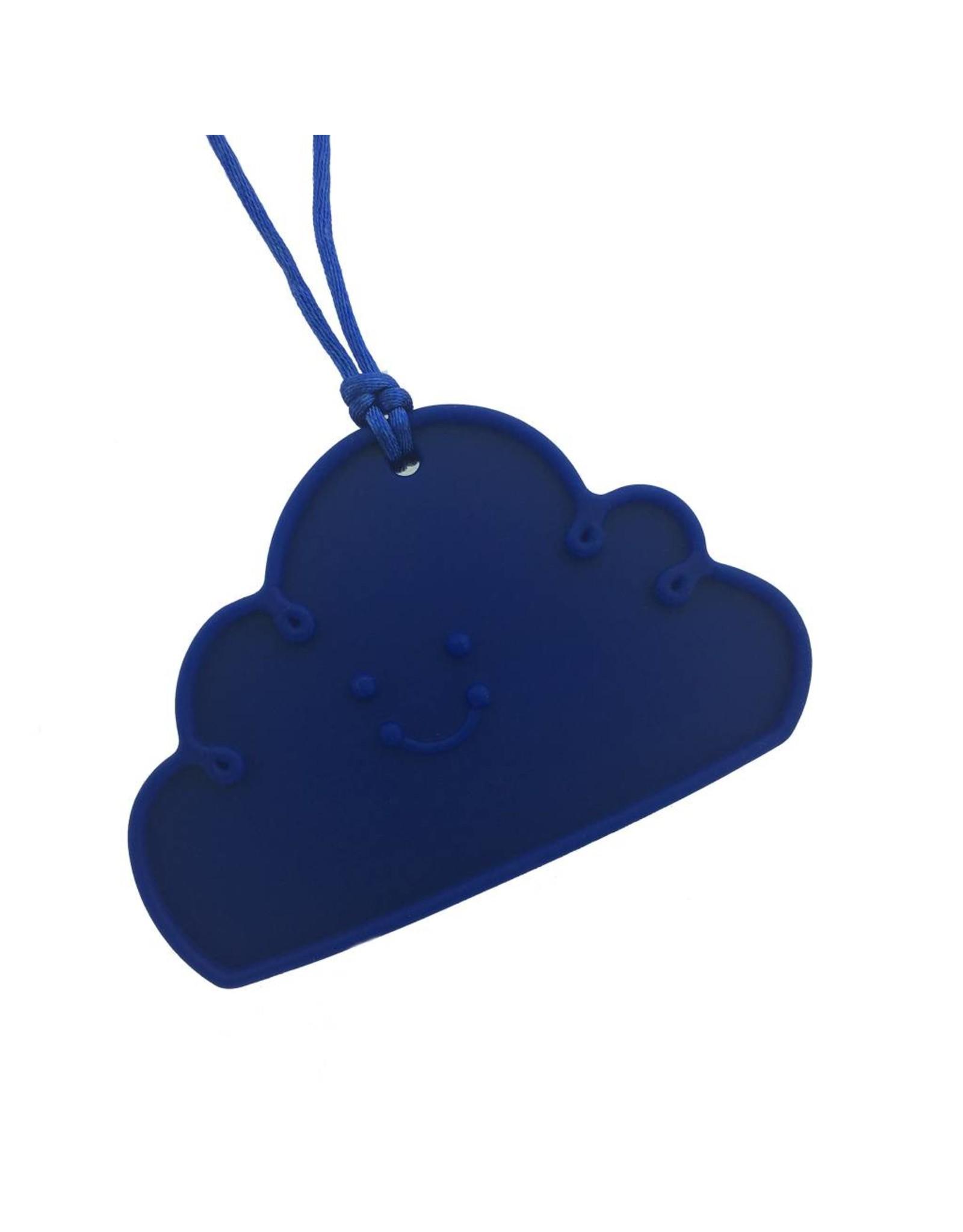 Bijtketting siliconen wolk donkerblauw