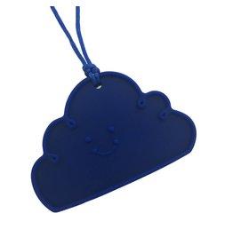 Siliconen bijtketting wolk donkerblauw