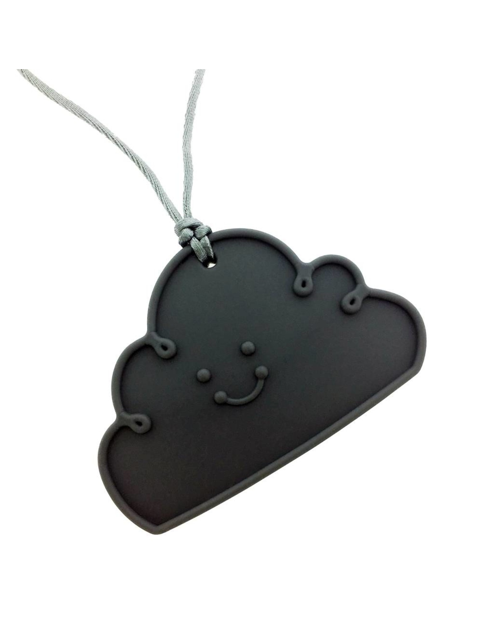Bijtketting siliconen wolk donkergrijs