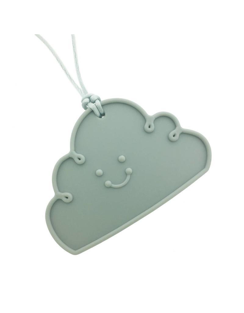 Bijtketting siliconen wolk grijs