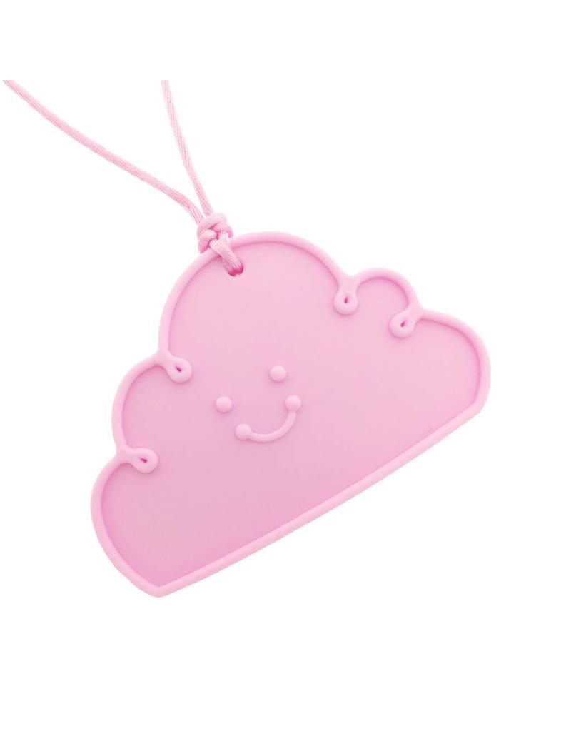 Bijtketting siliconen wolk roze