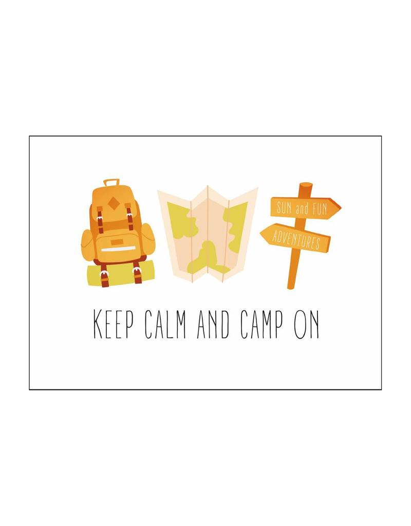 Postkaart Keep calm and camp on