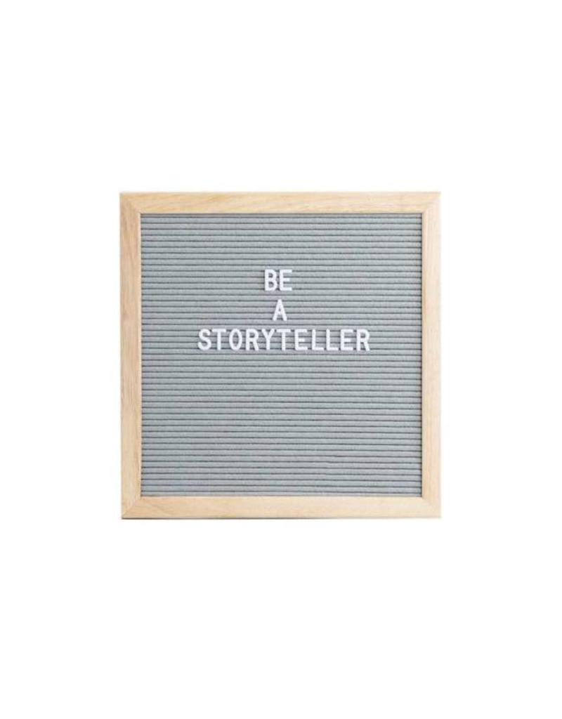 L: Letterboard vilt 30x30cm grijs