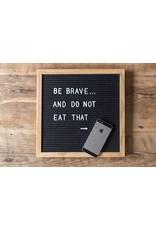 L: Letterboard vilt 30x30cm zwart