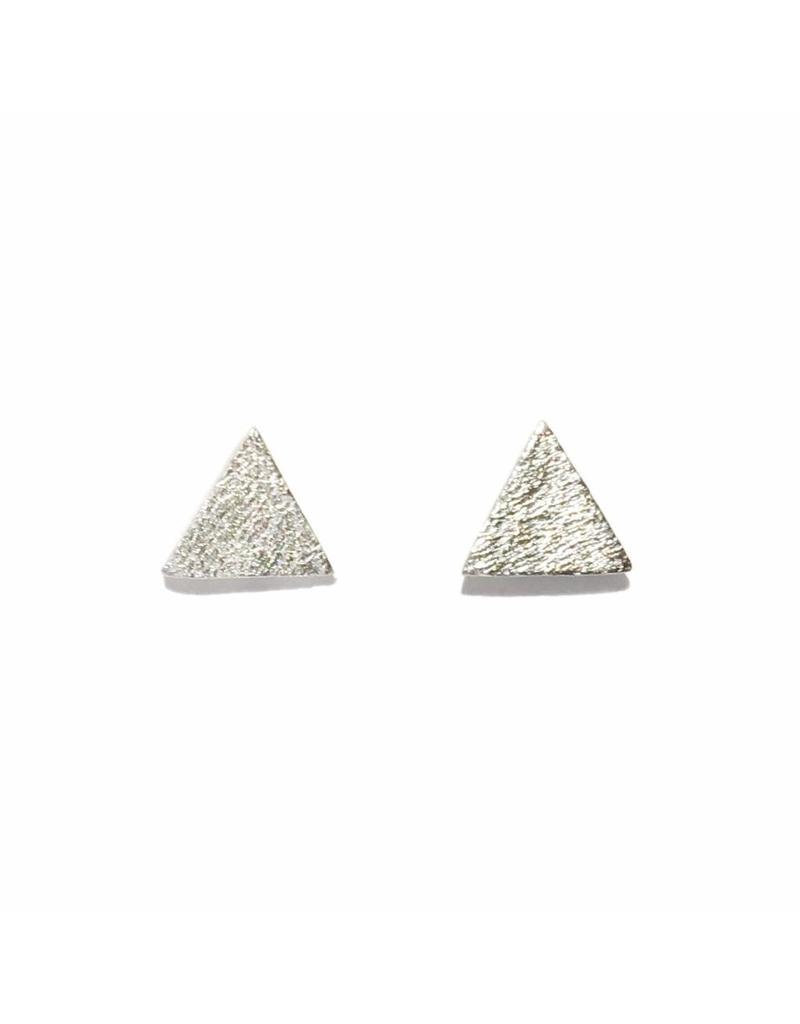 Stekertjes zilver driehoek