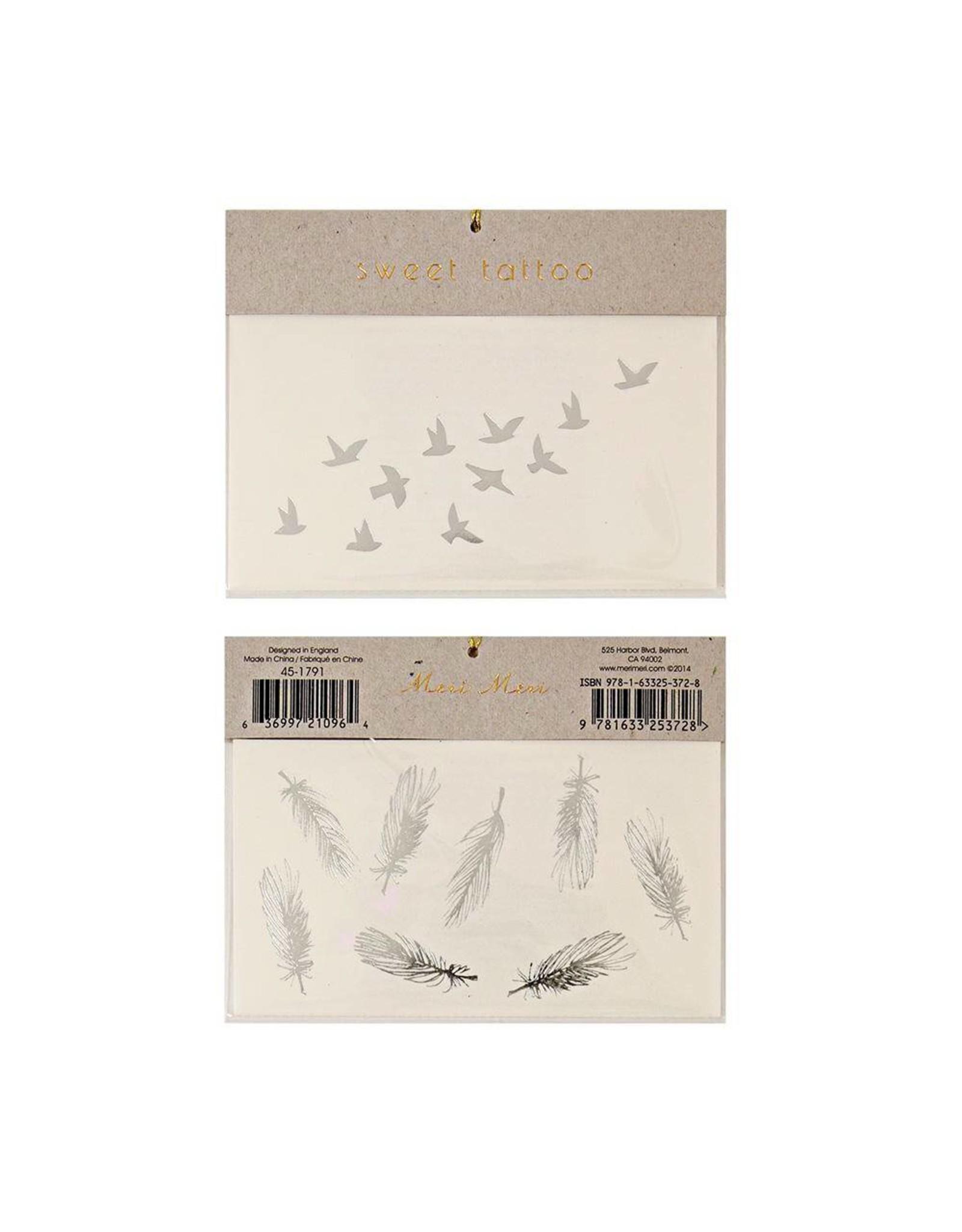 Tattoos vogel/veer