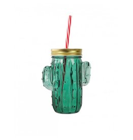F: Jar met rietje cactus