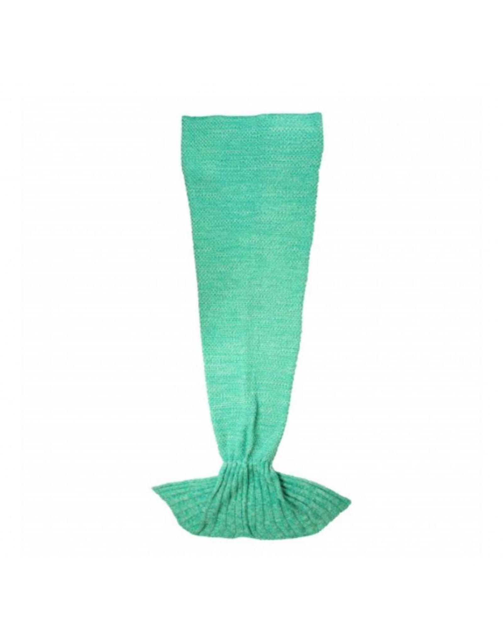 Deken zeemeermin groen
