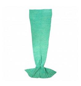 F: Deken zeemeermin groen