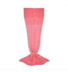 Deken zeemeermin roze