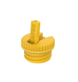 Sportdop metalen drinkfles geel