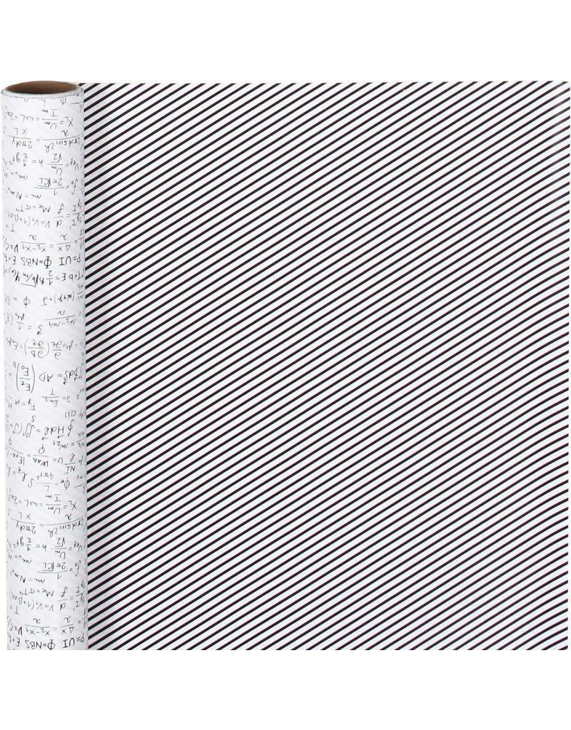 Inpakpapier wiskunde/gestreept