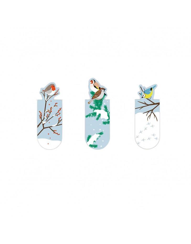 Magnetische bladwijzers vogel sneeuw