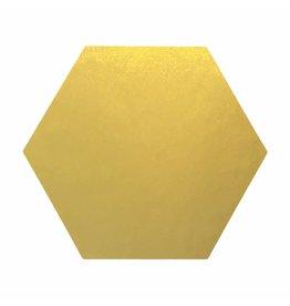 Stickers 5 st. zeshoek goud