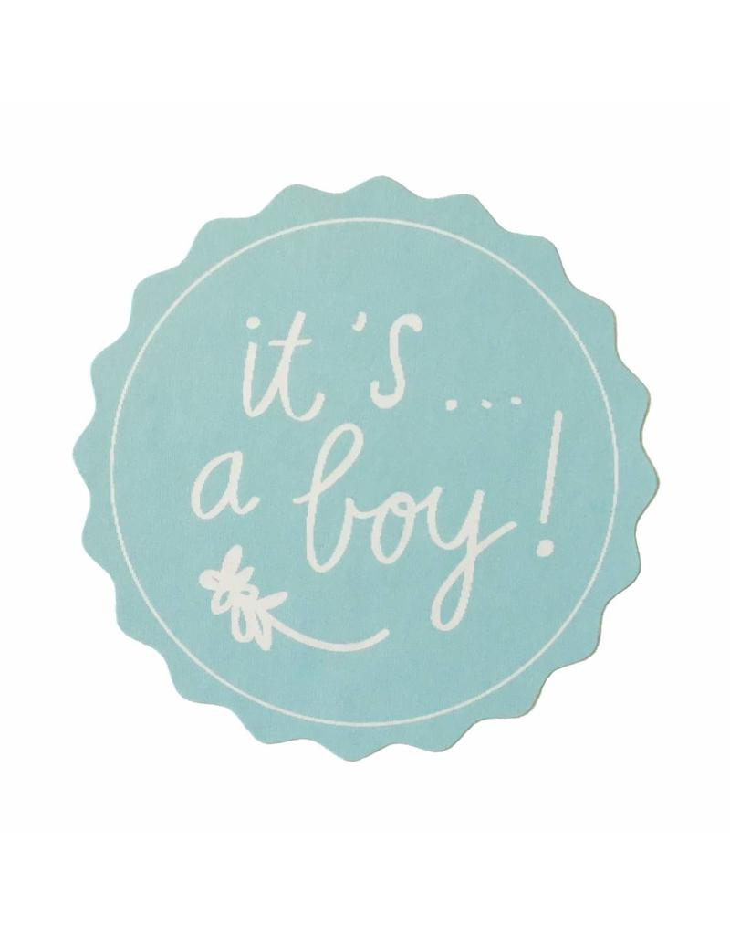 Stickers 5 st. it's a boy blauw