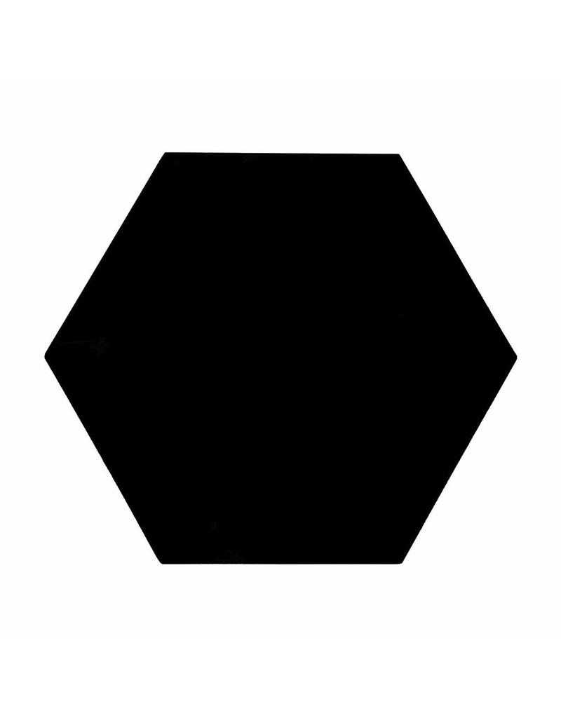 Stickers 5 st. zeshoek mat zwart