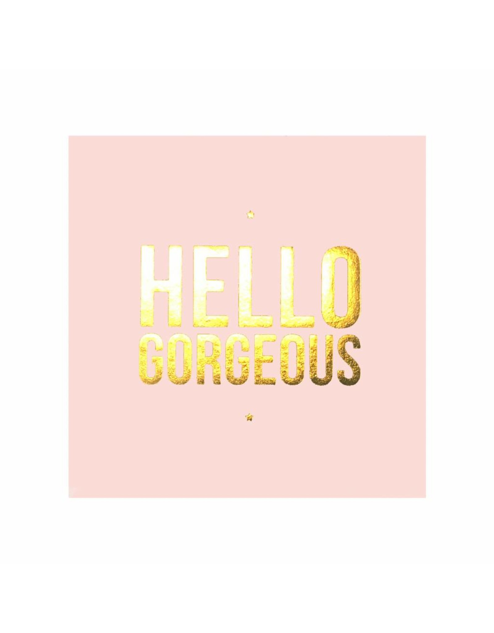 Stickers 5 st. HELLO GORGEOUS roze/goud