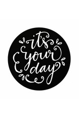 Stickers 5 st. it's your day zwart