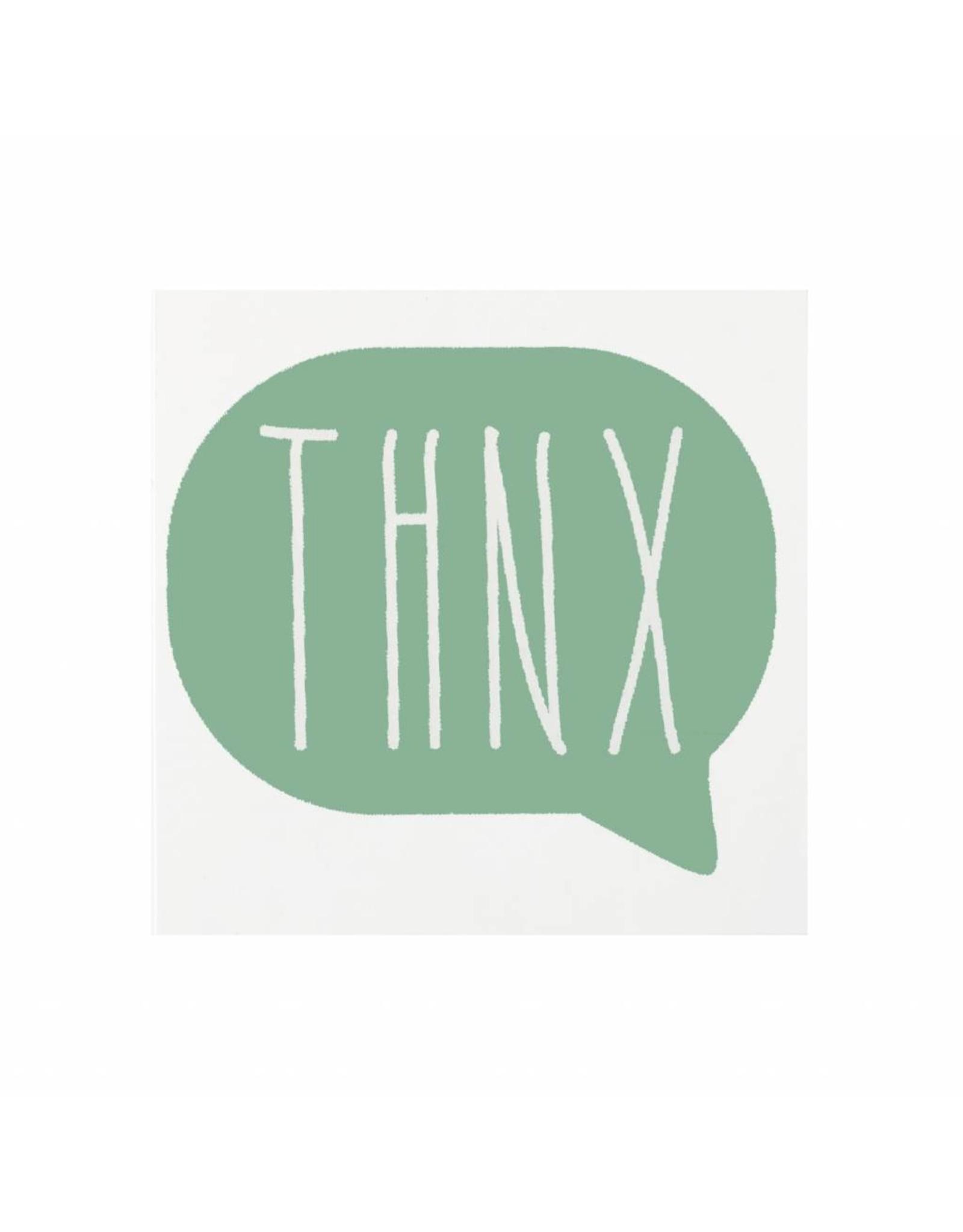 Stickers 5 st. THNX donker muntgroen