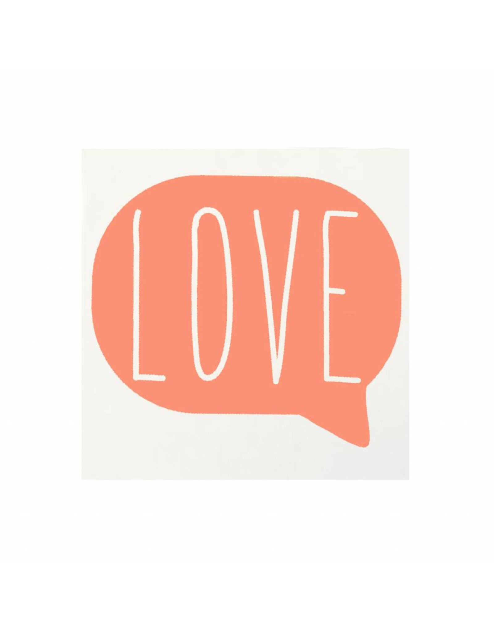 Stickers 5 st. LOVE koraal