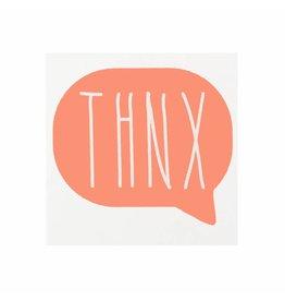 Stickers 5 st. THNX koraal