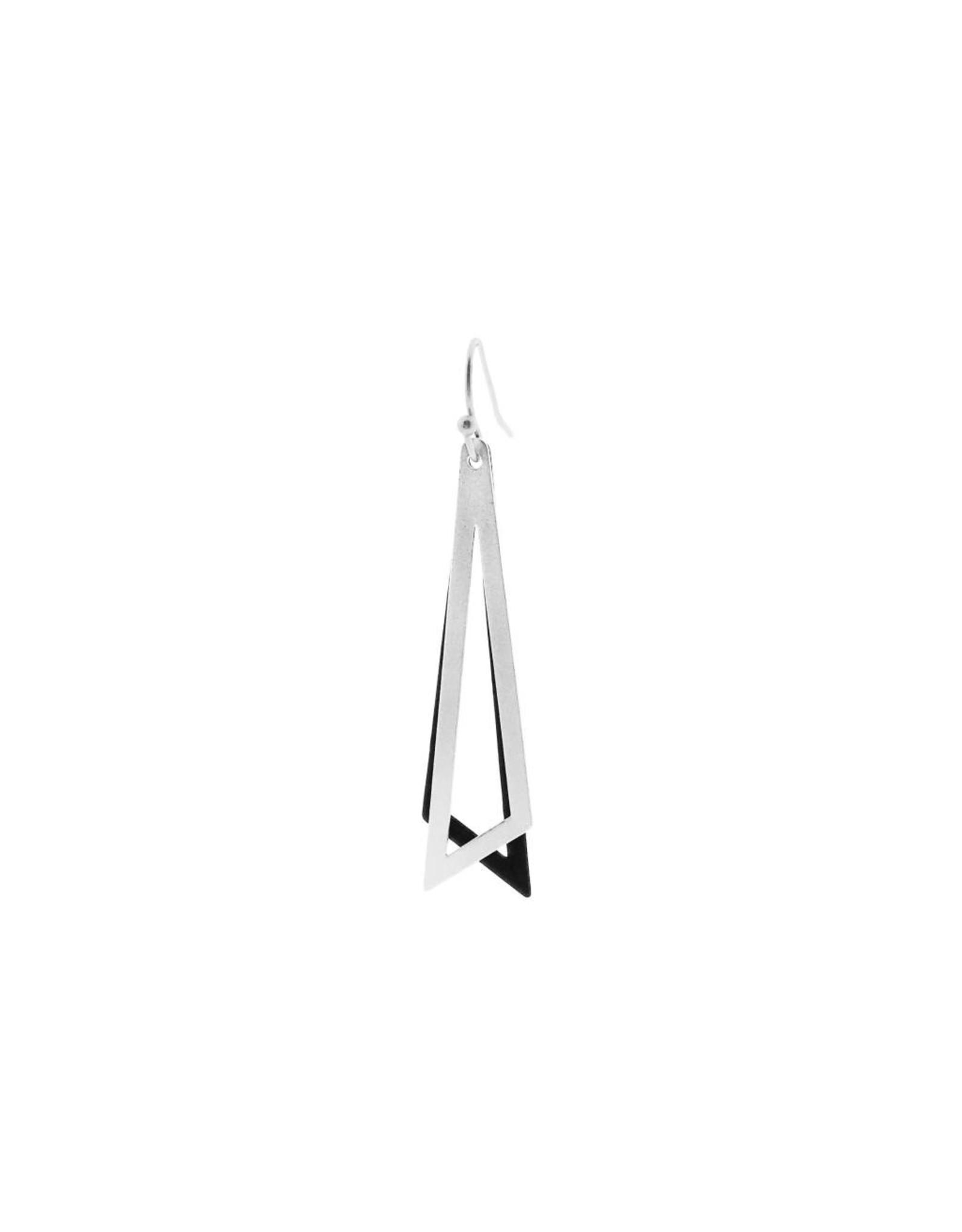 oorbEllen mix&match driehoeken zilver + zwart