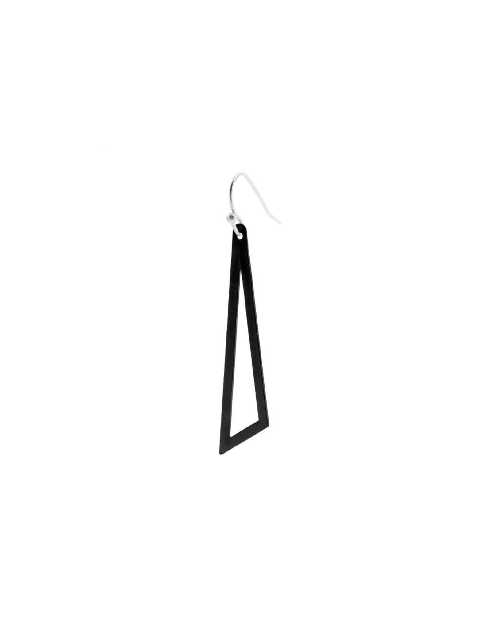 oorbEllen mix&match driehoek mat zwart haakje zilver