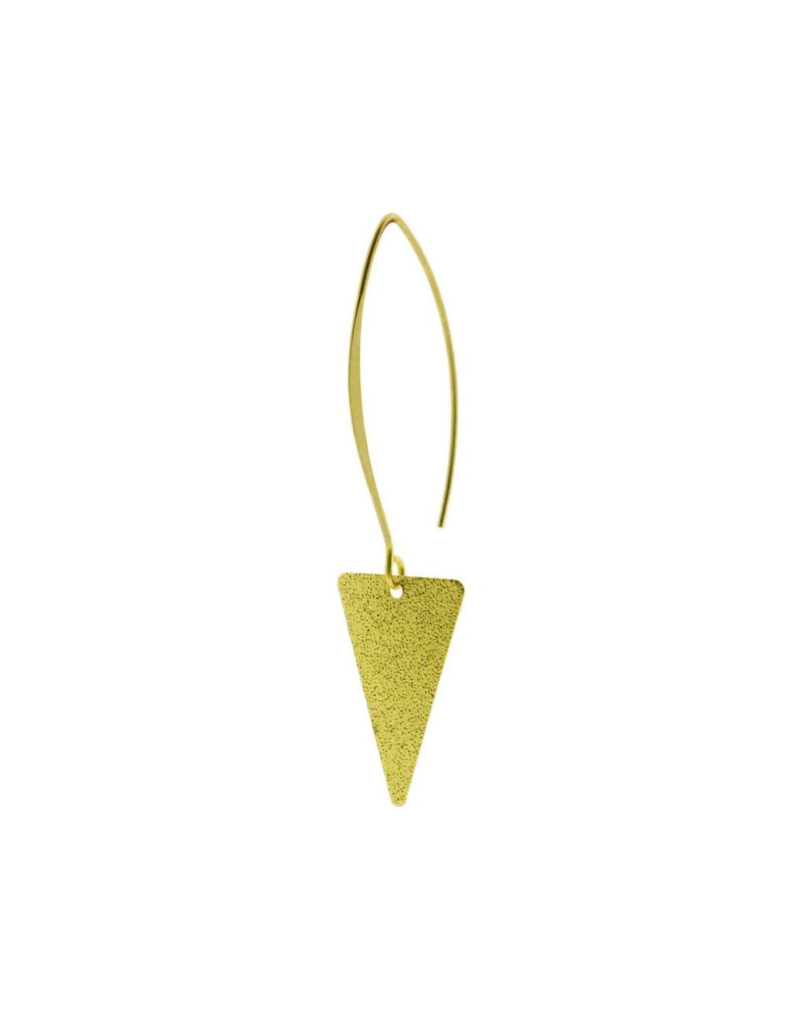 oorbEllen mix&match triangel glinsterende mat goud lang goud