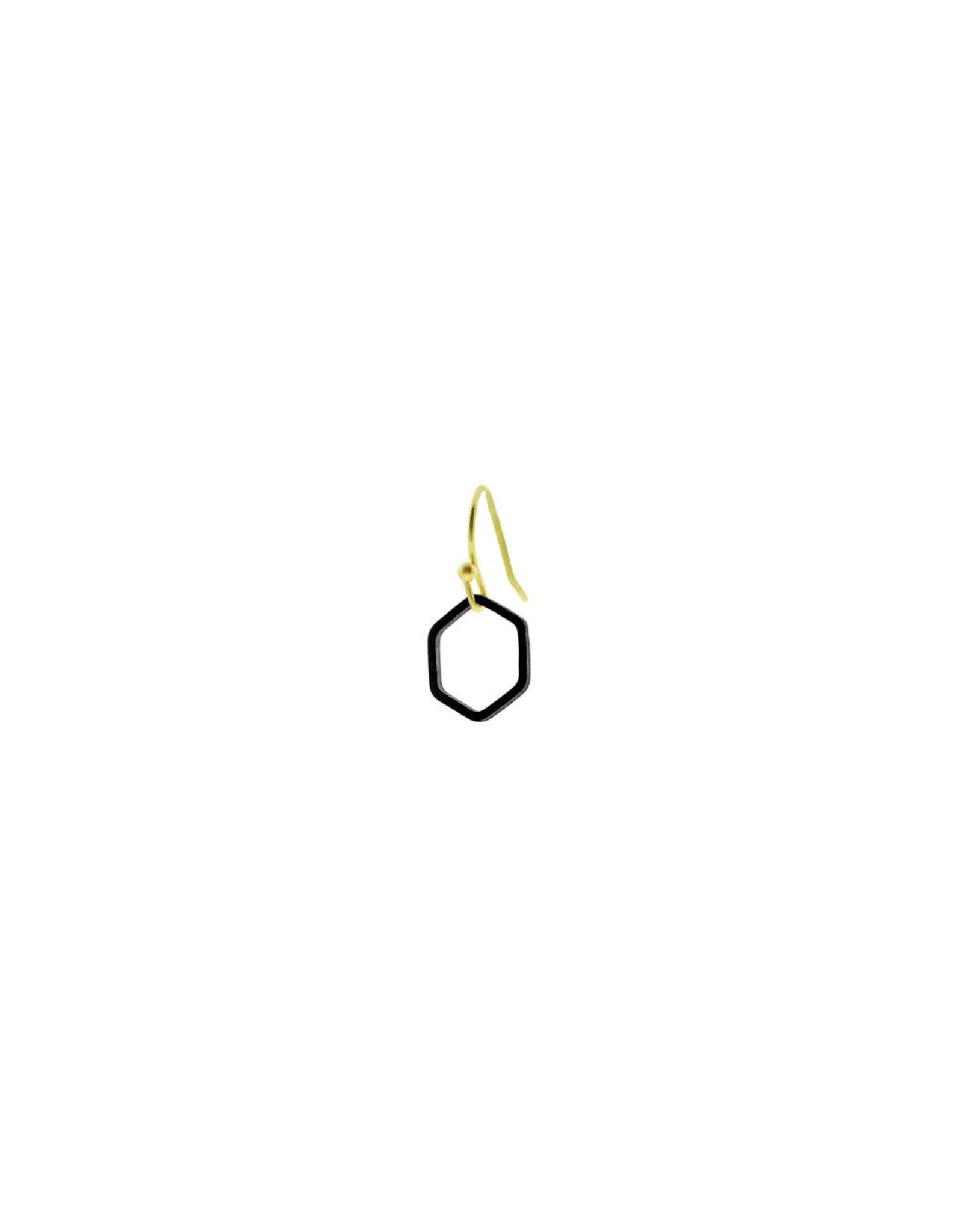 oorbEllen mix&match zeshoekje open mat zwart kort goud