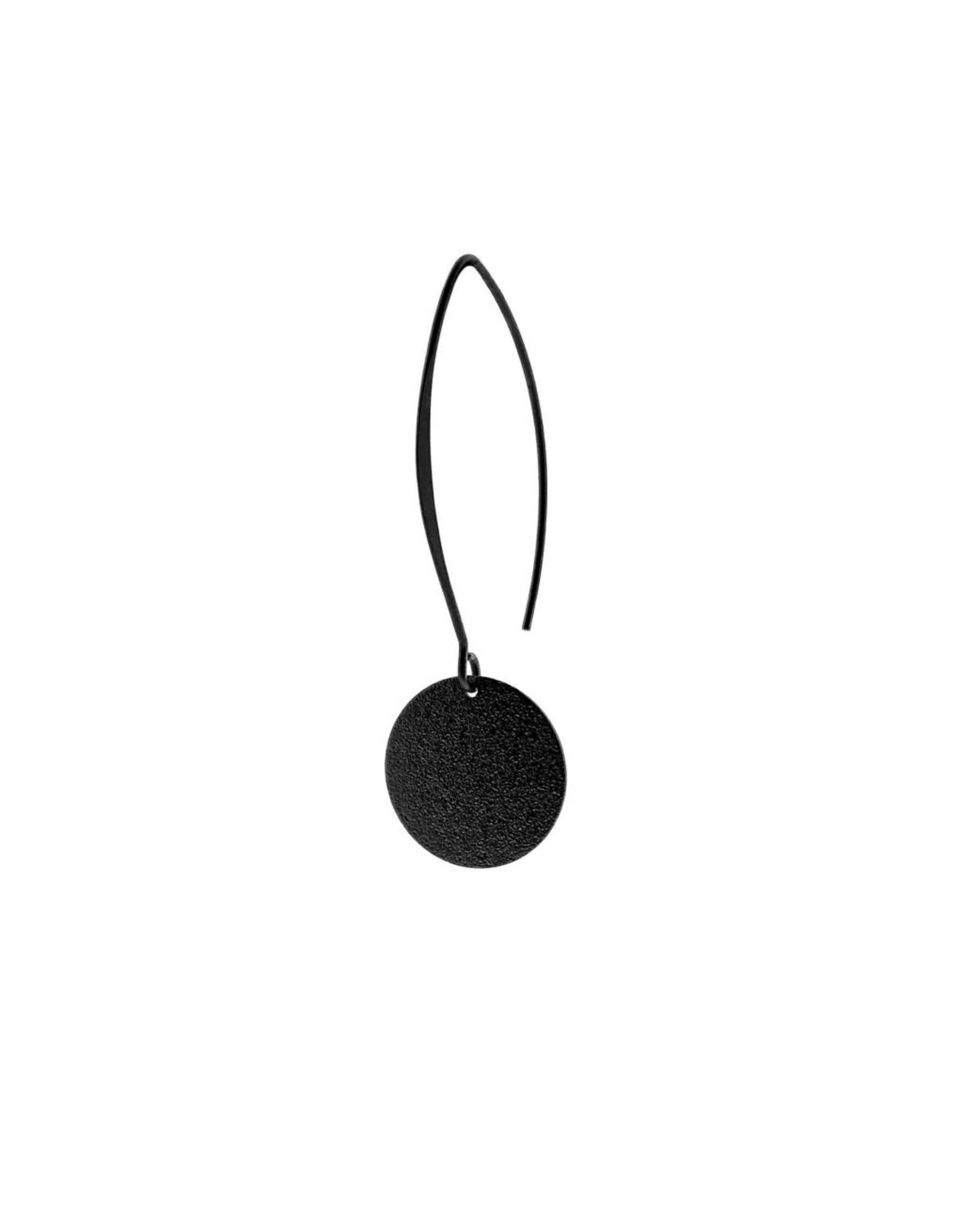 oorbEllen mix&match cirkel vol mat zwart lang zwart