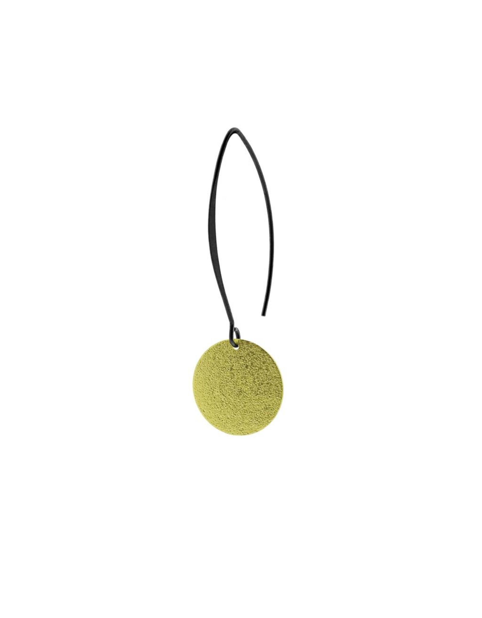 oorbEllen mix&match cirkel vol mat goud lang zwart